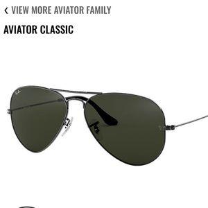 Black Aviators X Ray Bans